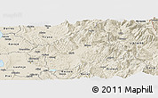 Shaded Relief Panoramic Map of Elbasan