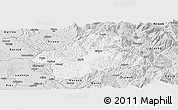 Silver Style Panoramic Map of Elbasan