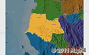Political Map of Fier, darken