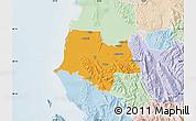 Political Map of Fier, lighten
