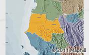 Political Map of Fier, semi-desaturated
