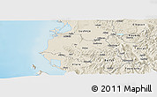 Shaded Relief Panoramic Map of Fier