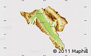 Physical Map of Gjirokastër, cropped outside