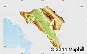 Physical Map of Gjirokastër, single color outside