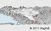 Gray Panoramic Map of Gjirokastër