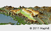 Physical Panoramic Map of Gjirokastër, darken
