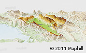 Physical Panoramic Map of Gjirokastër, lighten