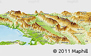 Physical Panoramic Map of Gjirokastër