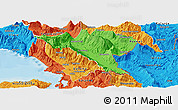 Political Panoramic Map of Gjirokastër