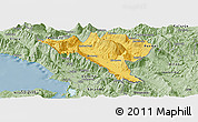 Savanna Style Panoramic Map of Gjirokastër