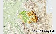 Physical Map of Gramsh, lighten