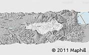 Gray Panoramic Map of Gramsh