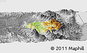 Physical Panoramic Map of Gramsh, desaturated
