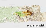 Physical Panoramic Map of Gramsh, lighten