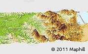 Physical Panoramic Map of Gramsh