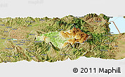 Physical Panoramic Map of Gramsh, satellite outside