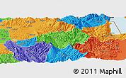 Political Panoramic Map of Gramsh