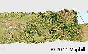 Satellite Panoramic Map of Gramsh