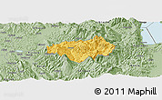 Savanna Style Panoramic Map of Gramsh