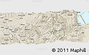Shaded Relief Panoramic Map of Gramsh