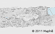 Silver Style Panoramic Map of Gramsh