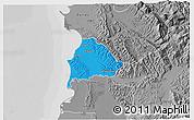Political 3D Map of Kavajë, desaturated