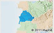 Political 3D Map of Kavajë, lighten
