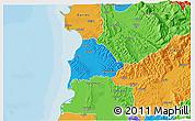 Political 3D Map of Kavajë