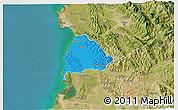 Political 3D Map of Kavajë, satellite outside