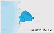Political 3D Map of Kavajë, single color outside