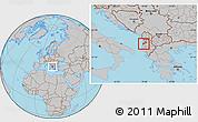 Gray Location Map of Kavajë