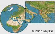 Satellite Location Map of Kavajë