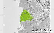 Physical Map of Kavajë, lighten, desaturated