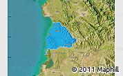 Political Map of Kavajë, satellite outside
