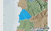 Political Map of Kavajë, semi-desaturated