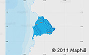 Political Map of Kavajë, single color outside