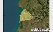 Satellite Map of Kavajë, darken