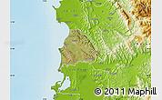 Satellite Map of Kavajë, physical outside