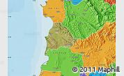 Satellite Map of Kavajë, political outside