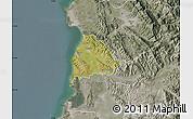 Satellite Map of Kavajë, semi-desaturated