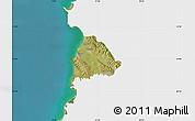 Satellite Map of Kavajë, single color outside