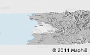 Gray Panoramic Map of Kavajë