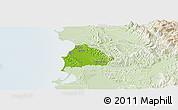 Physical Panoramic Map of Kavajë, lighten