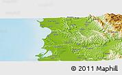 Physical Panoramic Map of Kavajë