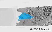 Political Panoramic Map of Kavajë, desaturated