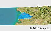 Political Panoramic Map of Kavajë, satellite outside