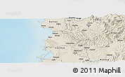 Shaded Relief Panoramic Map of Kavajë