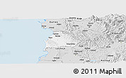 Silver Style Panoramic Map of Kavajë