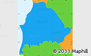 Political Simple Map of Kavajë