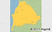 Savanna Style Simple Map of Kavajë